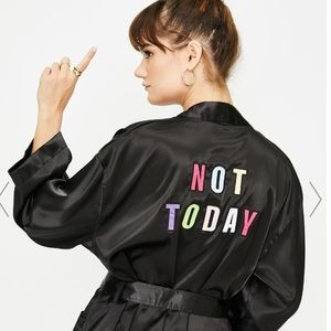 🖤🆕 Lazy Oaf Not Today Robe